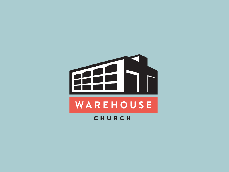 Warehouse Church logo identity branding logotype modern minimal sea heisler church warehouse