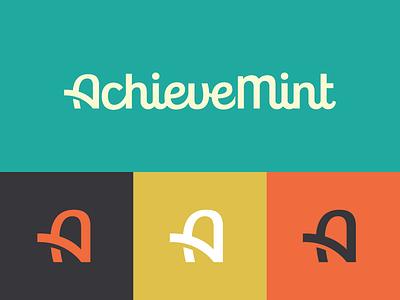 AchieveMint logo logotype identity branding activity medical reward friendly health wellness