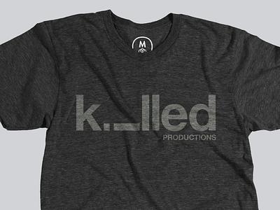 Killed Productions T-Shirt logo logotype identity shirt sean heisler killed productions fun clever