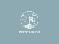 Reestablish logo logotype branding icon sean heisler reestablish series positive