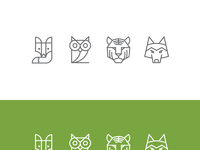 Zendesk animal icons one color