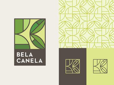 Bela Canela logo identity branding sean heisler natural organic foods leaf health eco