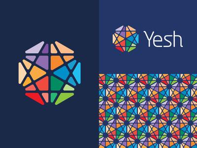 Yesh logo identity branding sean heisler star david jewish dating app