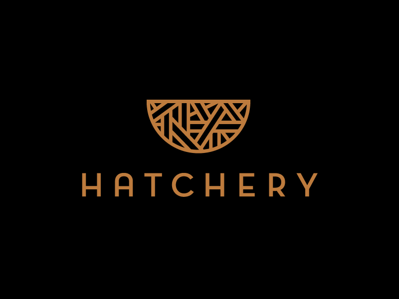 Hatchery logo branding modern minimal simple nest weave hatch incubation
