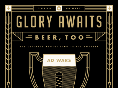 AAF Omaha Ad Wars Event poster ad wars omaha poster beer trivia military wheat knife