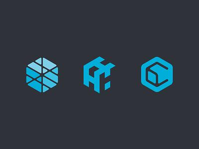 CubedHost logo identity branding logotype cube hosting minecraft