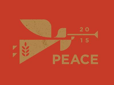 Peace simple modern identity logo heisler sean horn peace angel christmas holiday