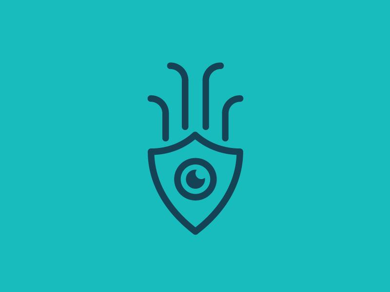 SQID 2 squid software simple security padlock modern minimal logo lock identity branding