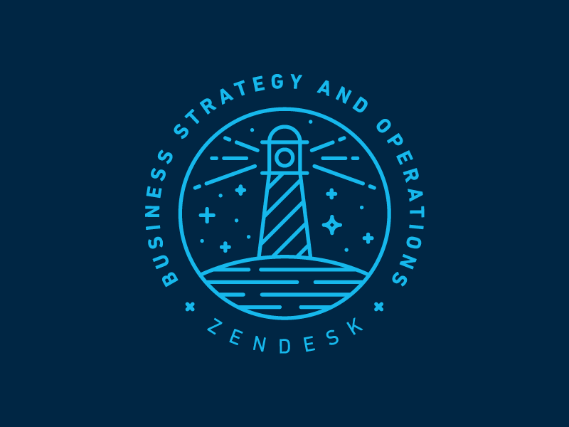 Zendesk Business Strategy And Operations Team consulting water stars zendesk lighthouse mono simple modern identity branding logo