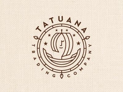 Tatuana Trading Company tatuana boat ship trade fair organic witch logo logotype identity farmer guatemala hispanic latino spices tea chocolate