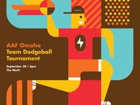 AAF Omaha Dodge & Burn Dodgeball Tournament Poster