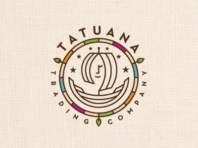 Tatuana Trading Company logo logotype identity boat chcolate fair trading farmer guatemala hispanic latino organic ship spices tatuana tea trade witch