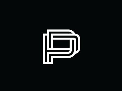 PP Monogram heisler p film producer monogram simple minimal identity logo