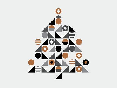 Happy Holidays 2016 geometric copper holiday tree christmas heisler minimal simple modern