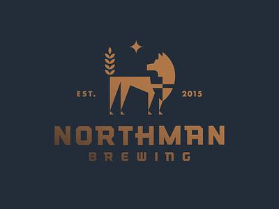Northman Brewing star brewing beer north wolf heisler modern minimal identity logo