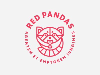 Zendesk Red Pandas Team Logo panda red heisler zendesk badge team monoline minimal modern branding identity logo