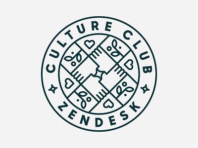 Zendesk Culture Club department heisler zendesk badge team monoline minimal modern branding identity logo