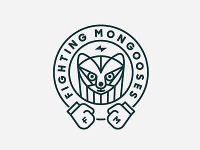Zendesk Fighting Mongooses boxing mongoose heisler zendesk badge team monoline minimal modern branding identity logo