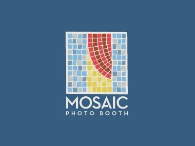 Mosaic Photo Booth logo logotype identity modern simple minimal mosaic tiles photography fun