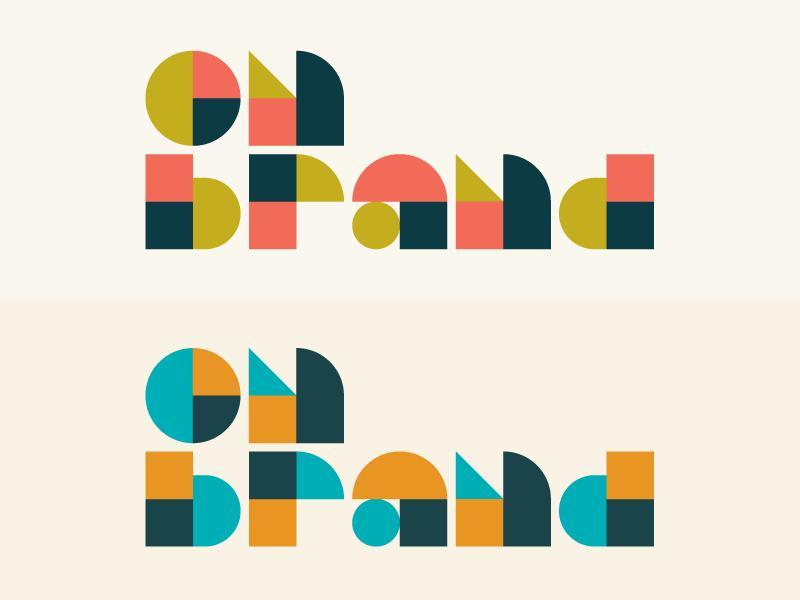 On Brand Conference 2018 omaha geometric conference heisler minimal modern branding identity logo