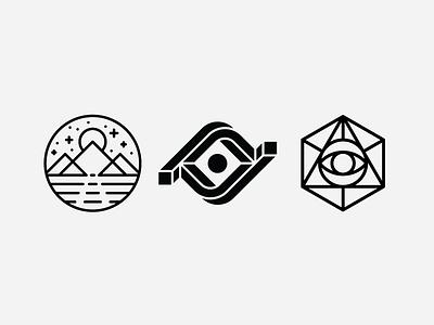 Sage/Visionary/Insight Symbol Explorations symbology monoline eye advertising commercial video simple minimal modern heisler identity logo
