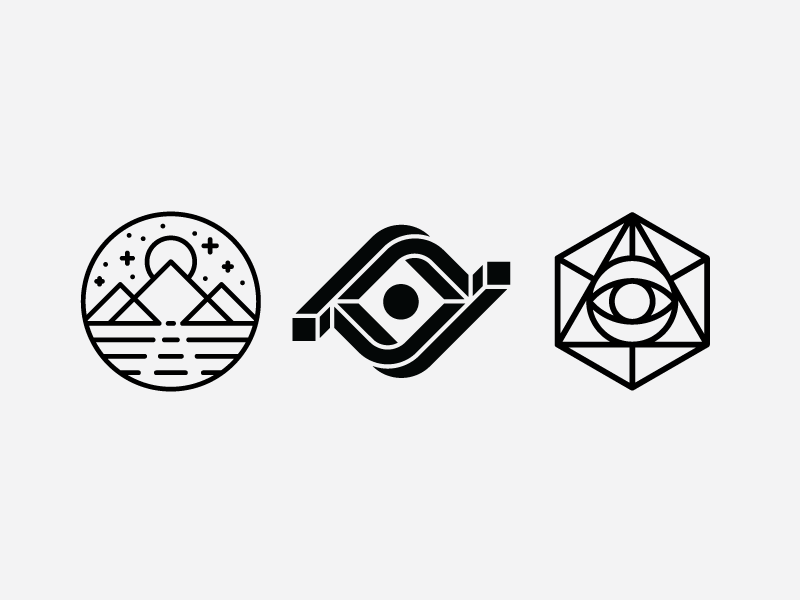 Sage/Visionary/Insight Symbol Explorations symbology monoline eye advertising commercial video simple minimal modern heisler identity logo