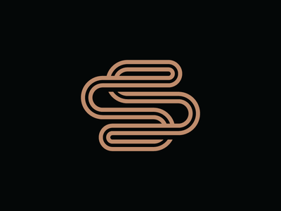 Sylvius monogram s simple minimal modern heisler identity logo