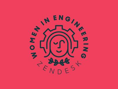 Women in Engineering at Zendesk gear women monoline zendesk badge simple modern minimal heisler identity logo