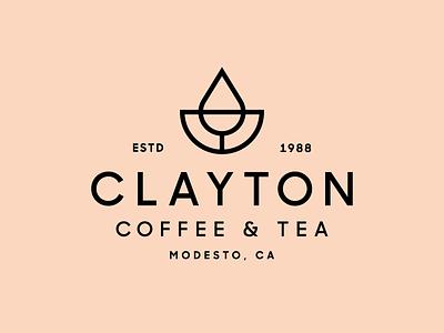 Clayton Coffee & Tea roaster california leaf drip monoline coffee modern simple minimal heisler identity logo