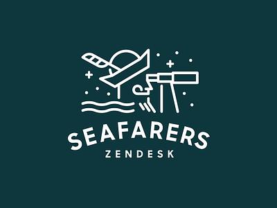 Zendesk Seafarers explore stars feather seafarers zendesk monoline modern simple minimal heisler identity logo