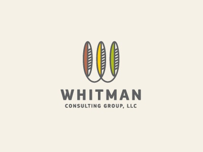 Whitman Consulting Group LLC logo logotype identity modern minimal consulting financial taxes indian native american feather cherokee