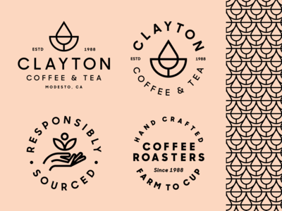 Clayton Coffee & Tea Brand Elements