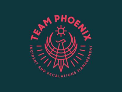 Zendesk Team Phoenix badge heisler zendesk sun monoline phoenix identity branding logo