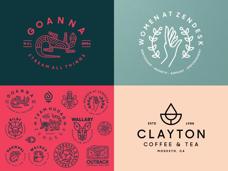 Top 4 of 2018 simple animal coffee heisler monoline modern identity logo