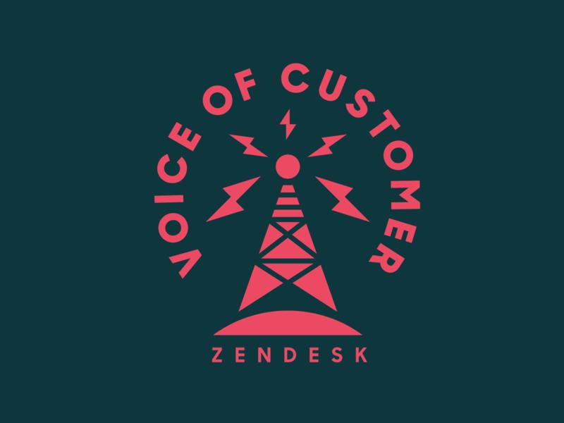 Zendesk Voice of Customer customer voice tower radio zendesk heisler minimal modern simple identity logo