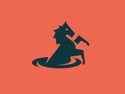 Kelpie mythological water kelpie horse minimal modern simple logo