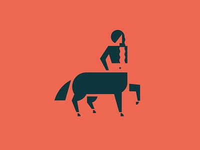 Kelpie mythological simple minimal logo kelpie woman horse