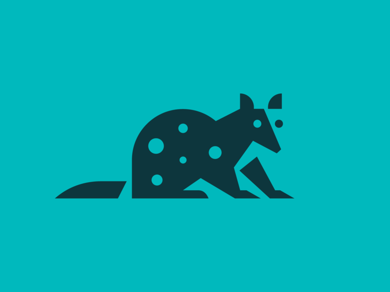 Quoll - Logo Concept negative space rodent animal quoll identity heisler minimal modern simple logo