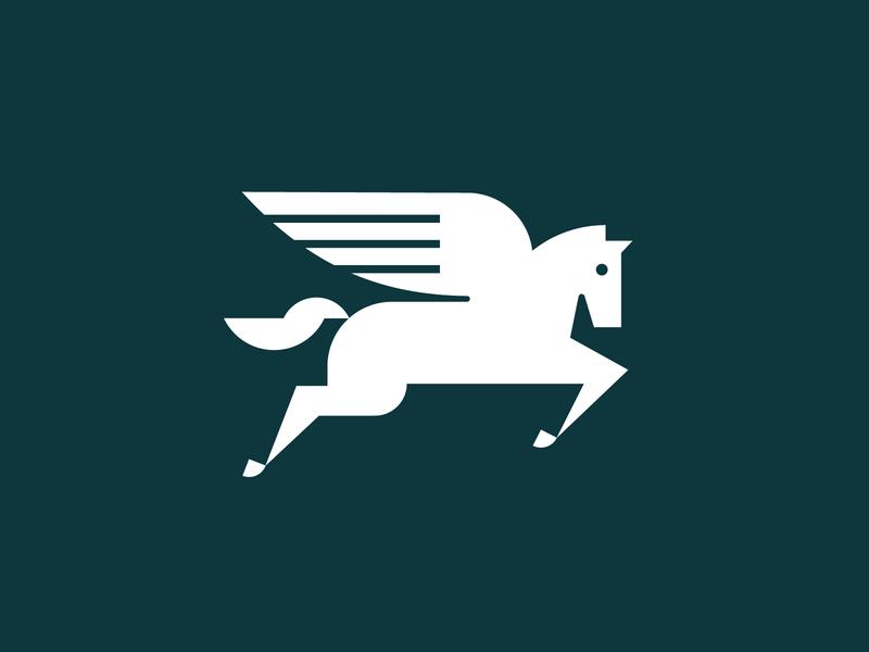 Zendesk Team Pegasus animal wings horse pegasus heisler zendesk minimal simple branding identity logo