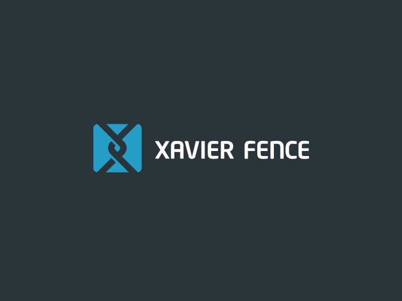 Xavier Fence logo logotype identity fence x xavier simple minimal modern