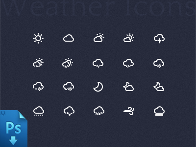 Weather Icon PSD onlyoly icon weather psd download line