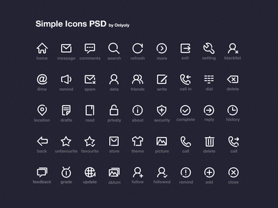 Simple Icon psd icon simple line onlyoly download