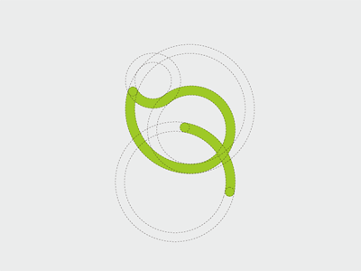 Vitality Green onlyoly simple logo line icon