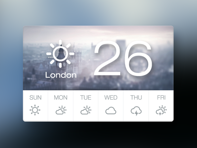 Weather Widget ui widget icon onlyoly weather