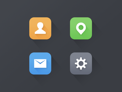 Flat Icons flat icon ui onlyoly simple shadow