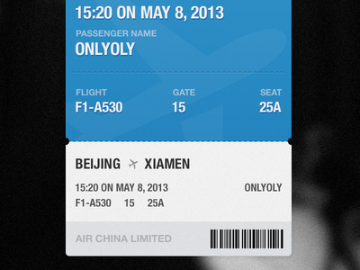 One Ticket ticket ui plane travel blue onlyoly
