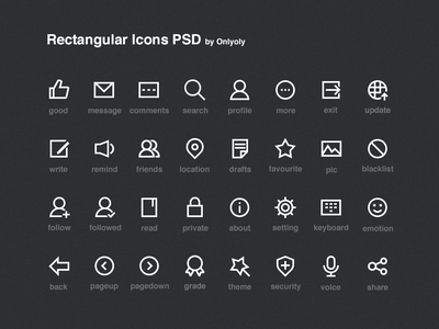 Rectangular Icons PSD line onlyoly icon simple psd rectangular onlyoly download