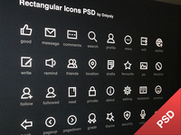 Rectangular Icons PSD