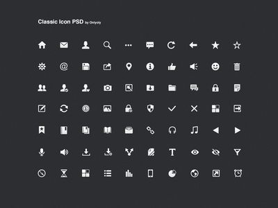 Classic Icon PSD onlyoly onlyoly classic ui icon simple psd download