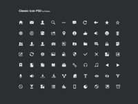 Classic icon psd onlyoly